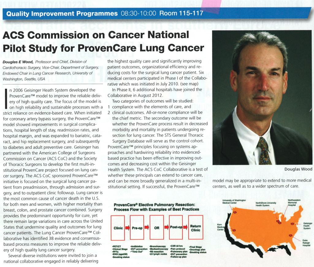 ACS Commission on Cancer National Pilot Study for ProvenCare Lung Cancer